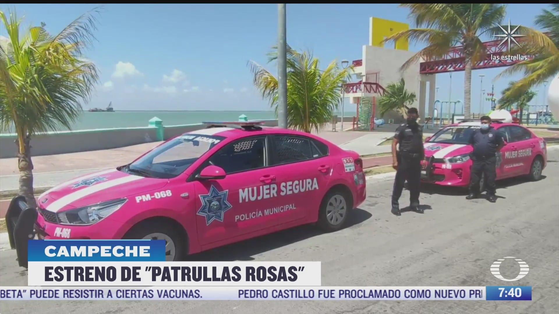 entran en operacion las patrullas rosas en campeche