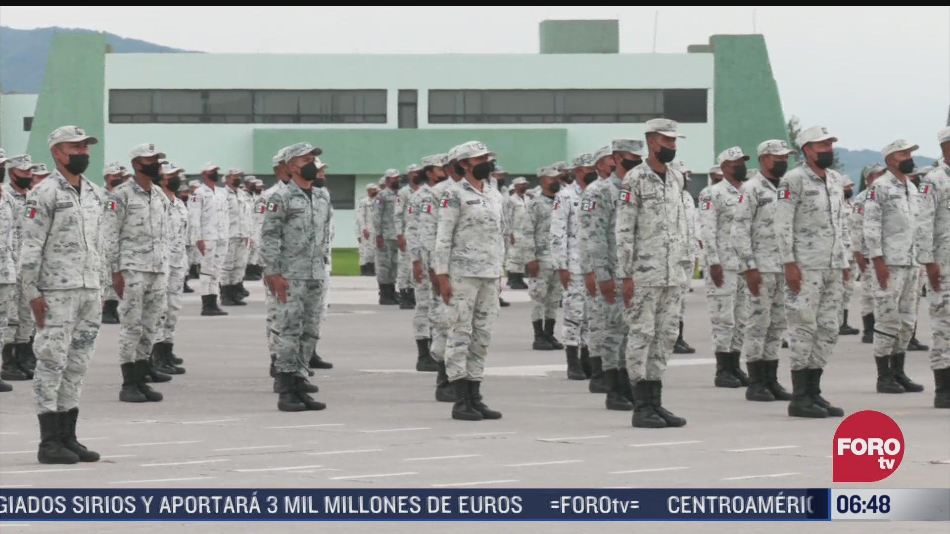 entrenamiento de los proximos elementos de la guardia nacional