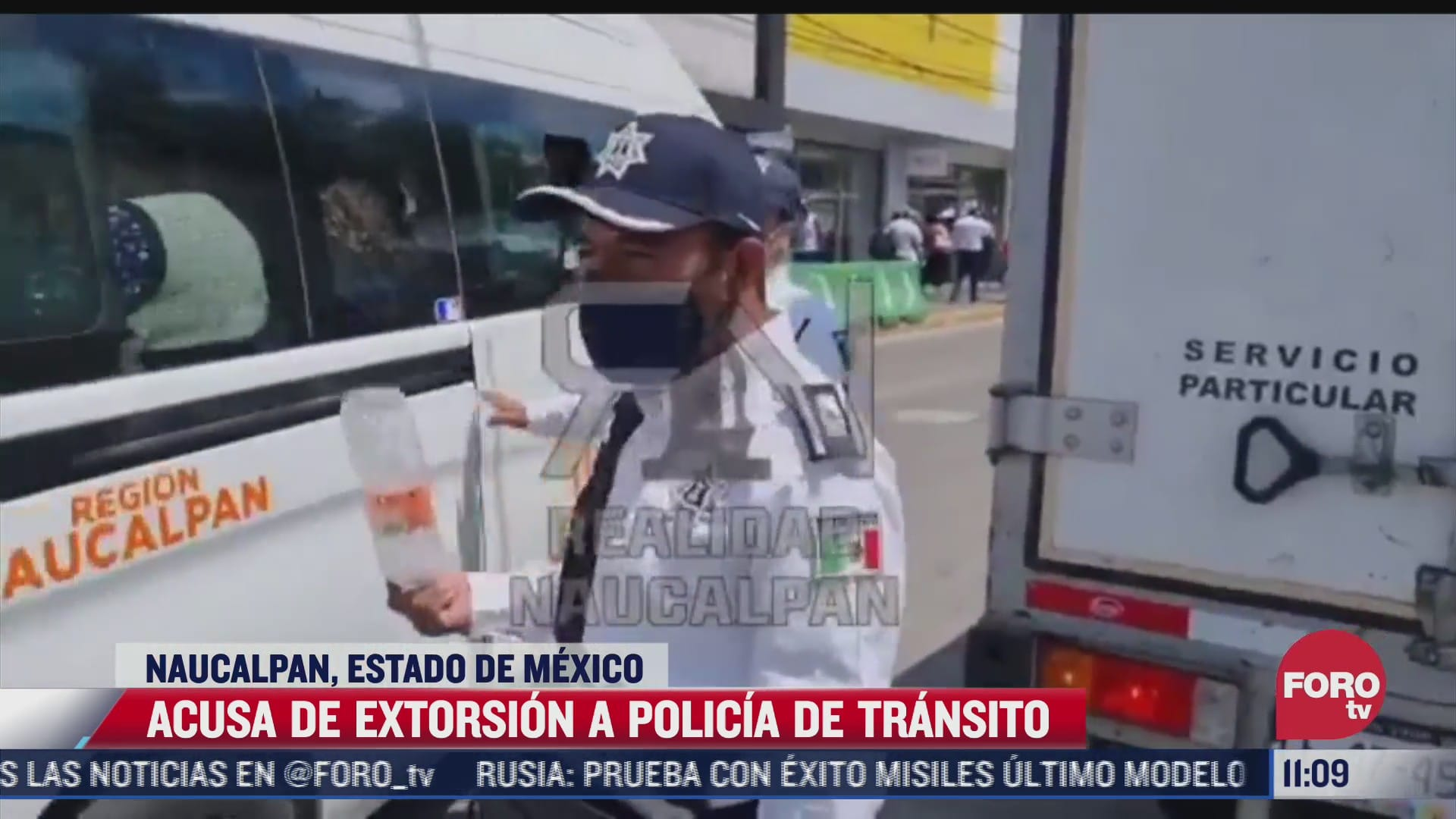exhiben a policia de transito de estado de mexico por pedir mordida