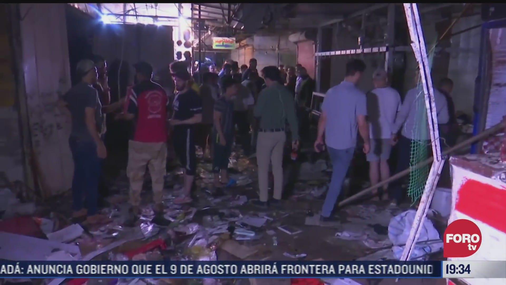 explosion en mercado de irak deja muertos y heridos