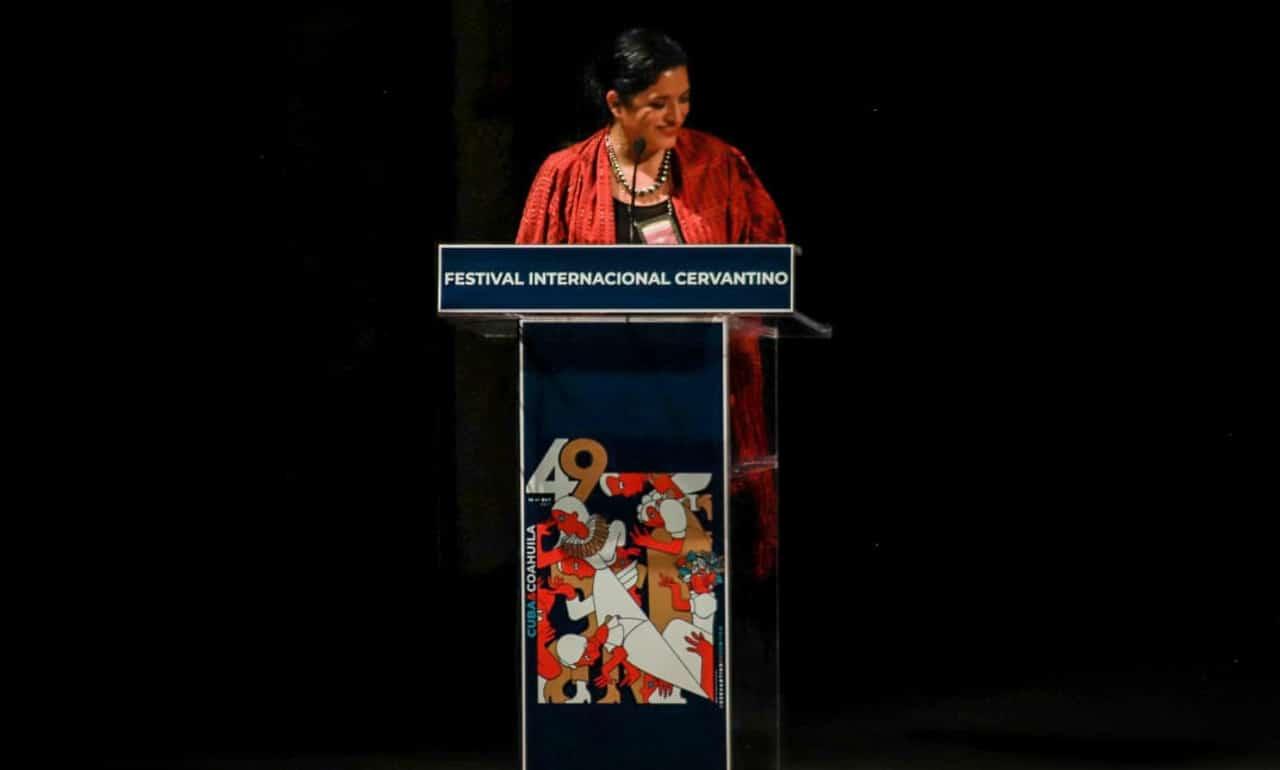 Alejandra Frausto, secretaria de Cultura, presenta el programa de la edición 49.º del Festival Internacional Cervantino
