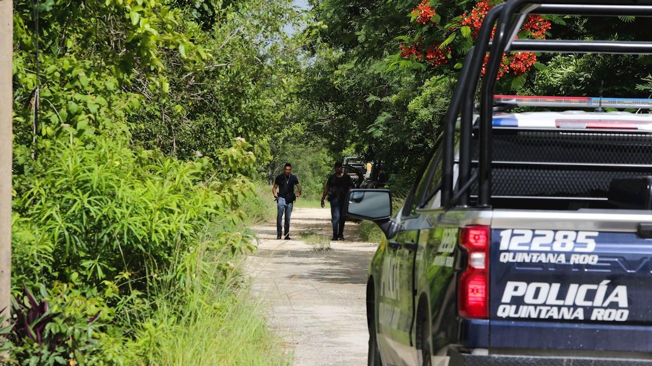 Hallan fosa con restos de al menos cinco personas en Cancún