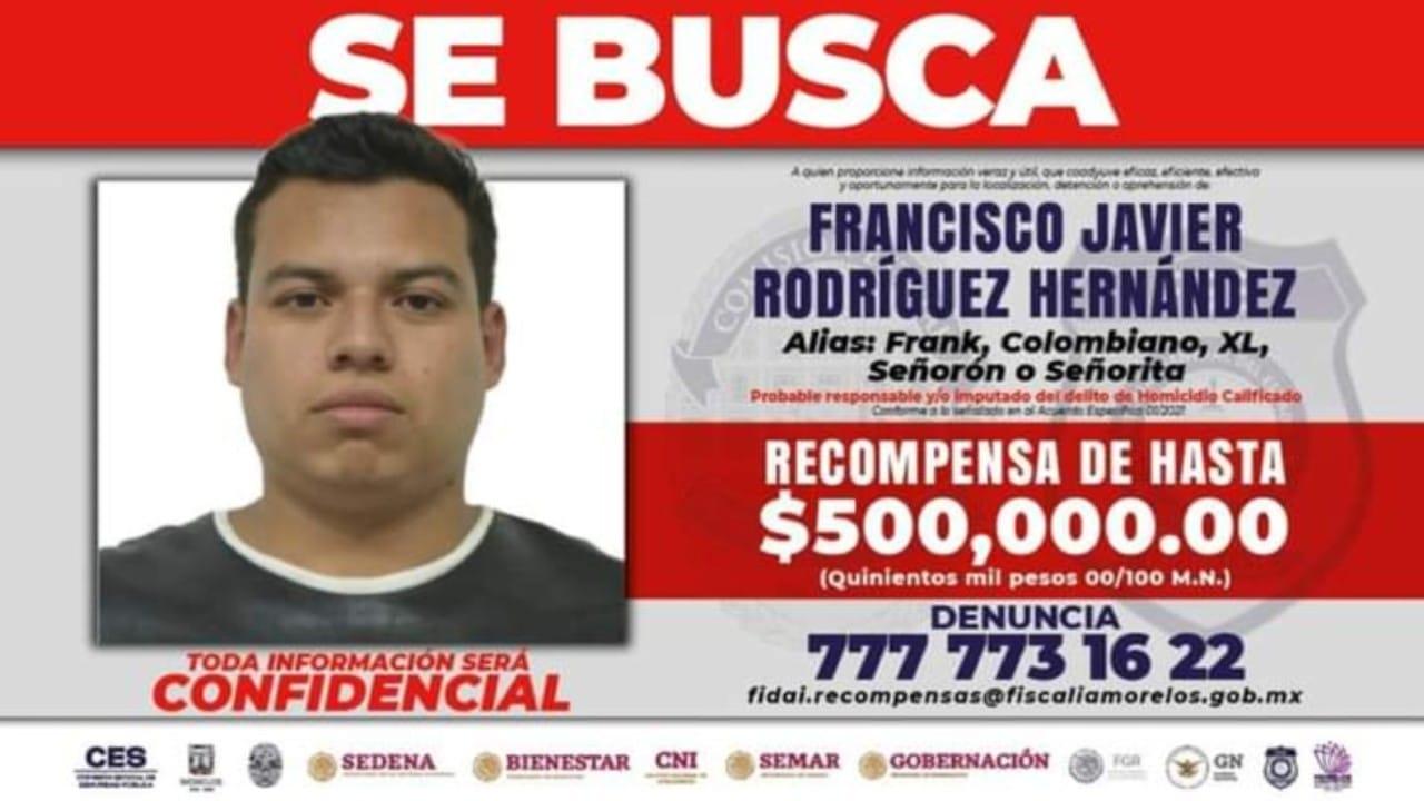 Ofrecen recompensa de 500 mil pesos por 'El Frank', acusado de varias masacres en Cuernavaca