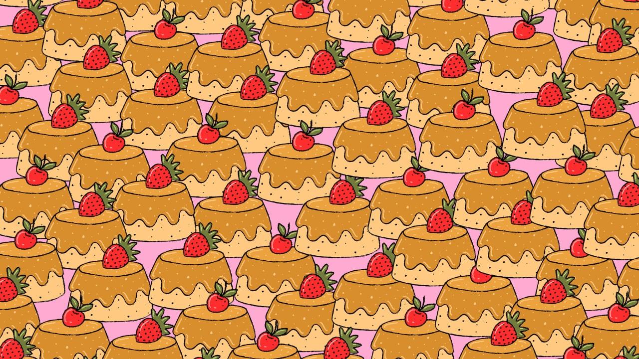 Viral: Reto visual; encuentra los flanes sin fruta