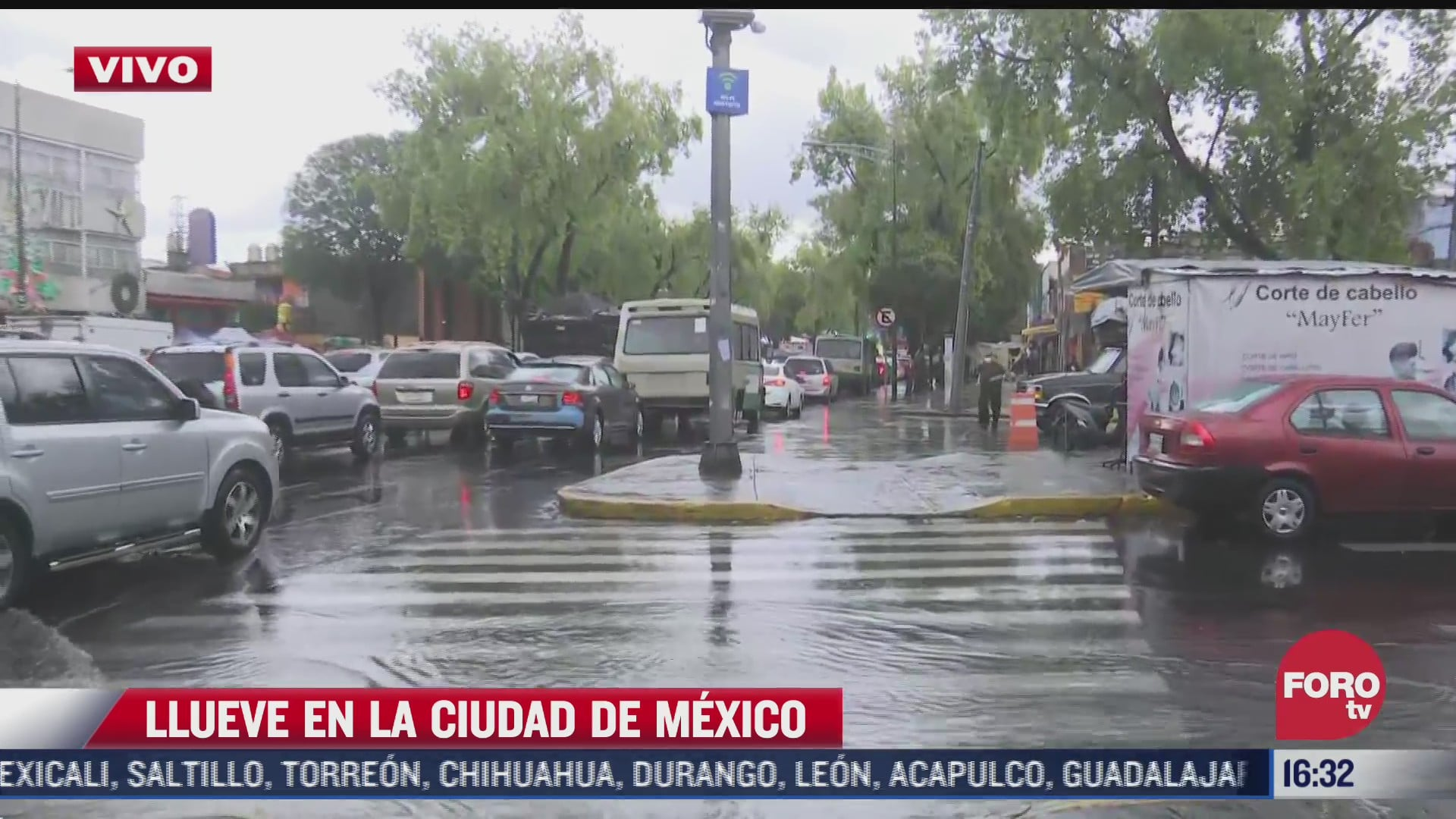fuerte lluvia se registra en gran parte de la cdmx
