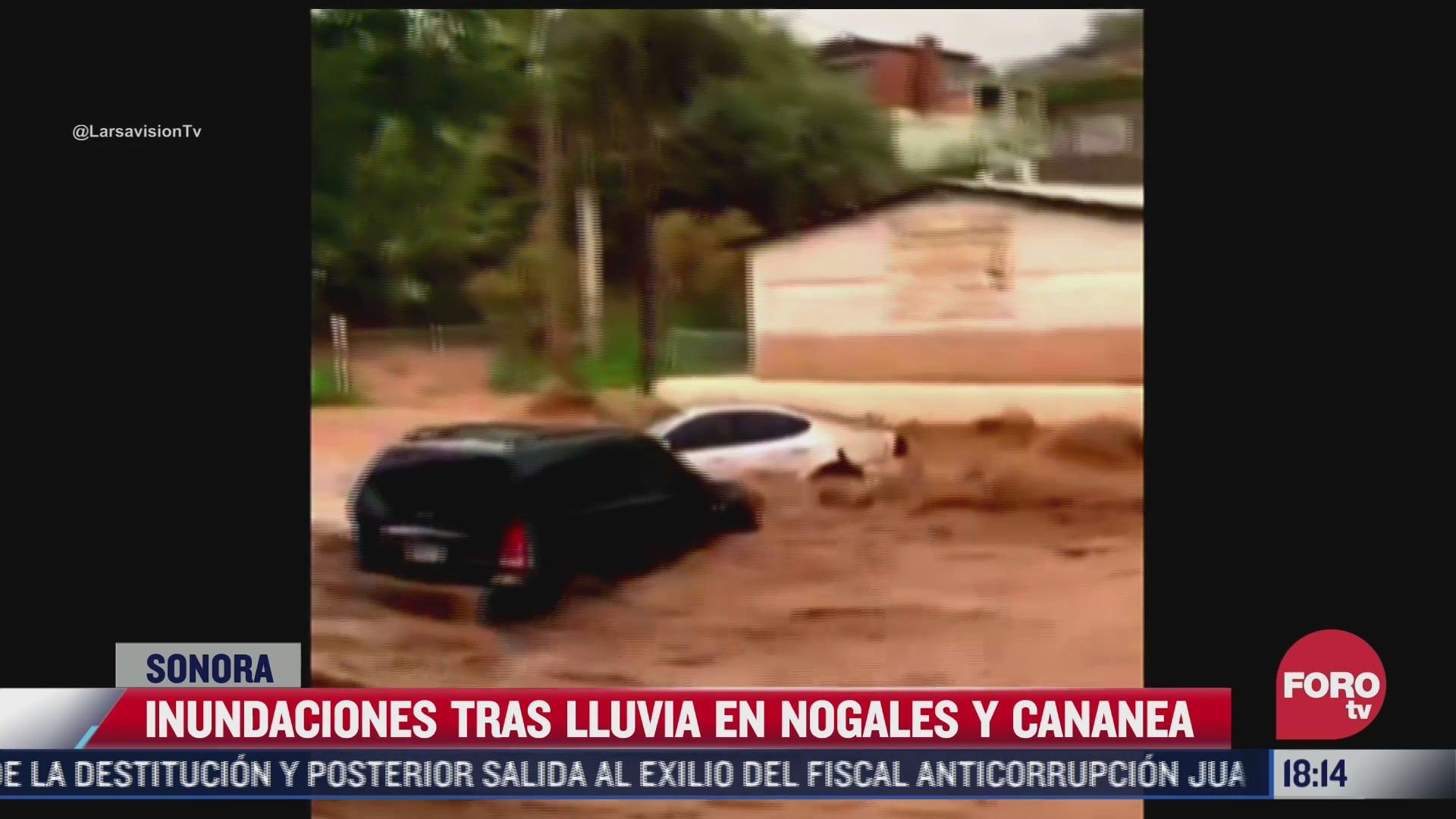 fuertes lluvias provocan desbordamiento de arroyos en nogales sonora