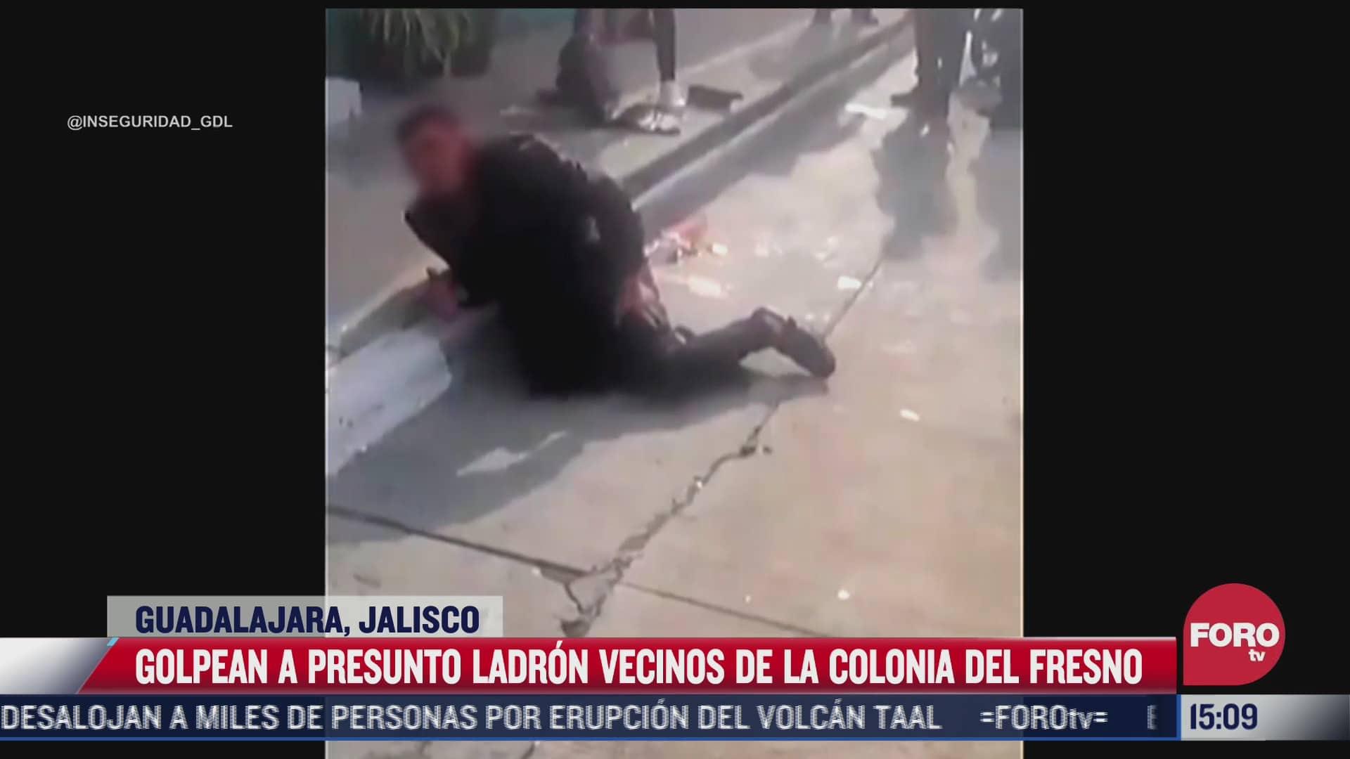 golpean a presunto ladron en guadalajara
