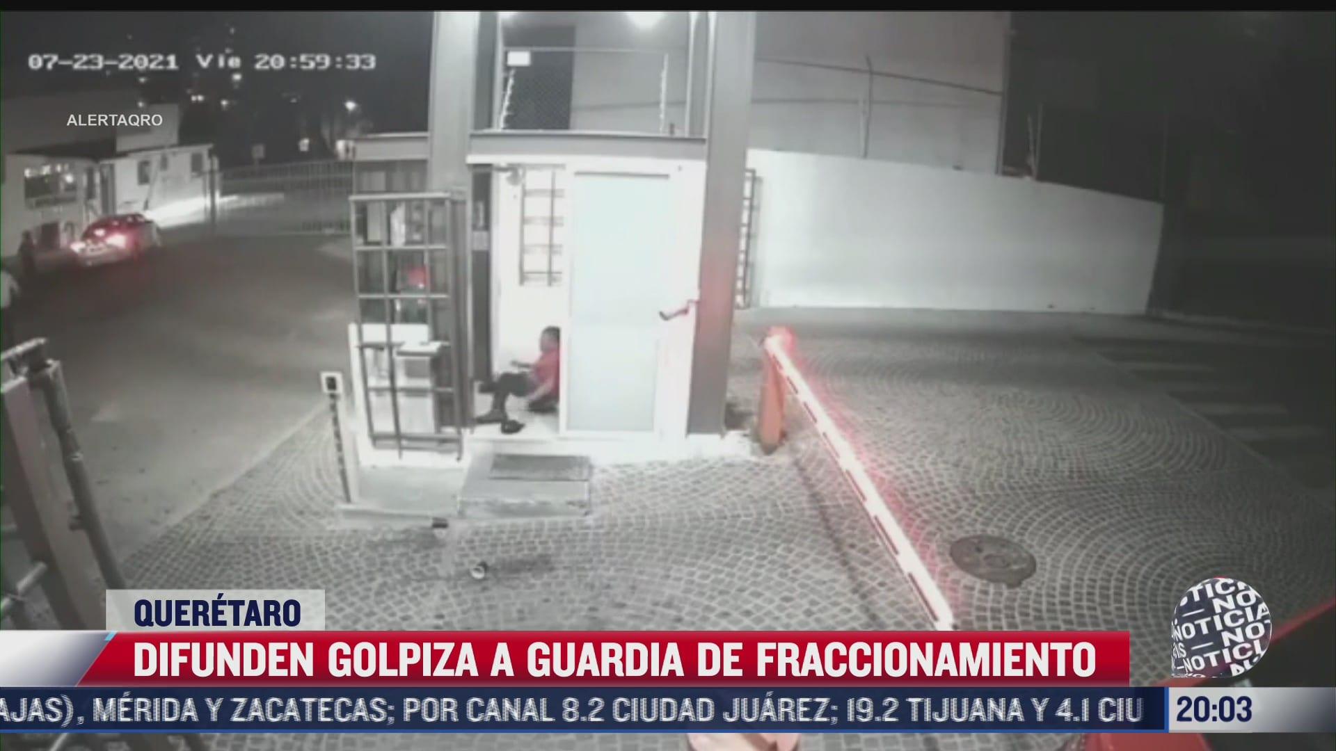 golpean a vigilante en queretaro