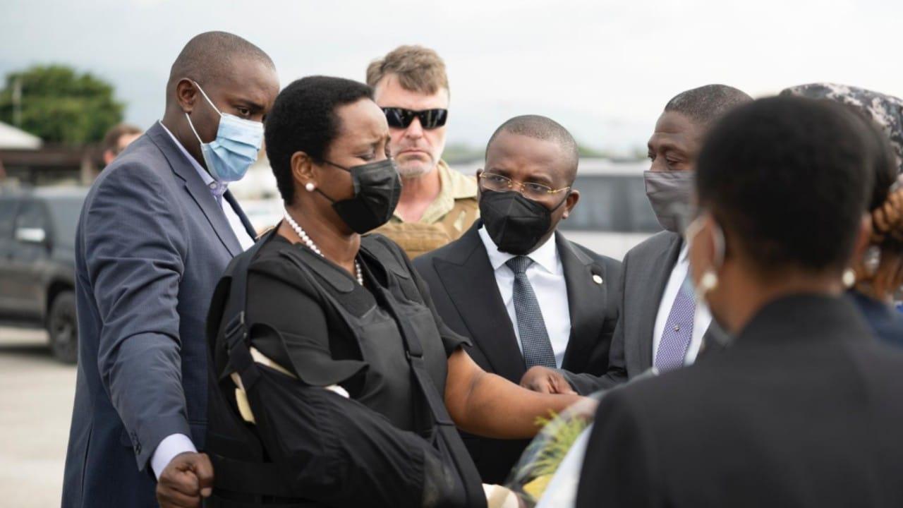 La viuda del presidente asesinado Jovenel Moise regresa a Haití