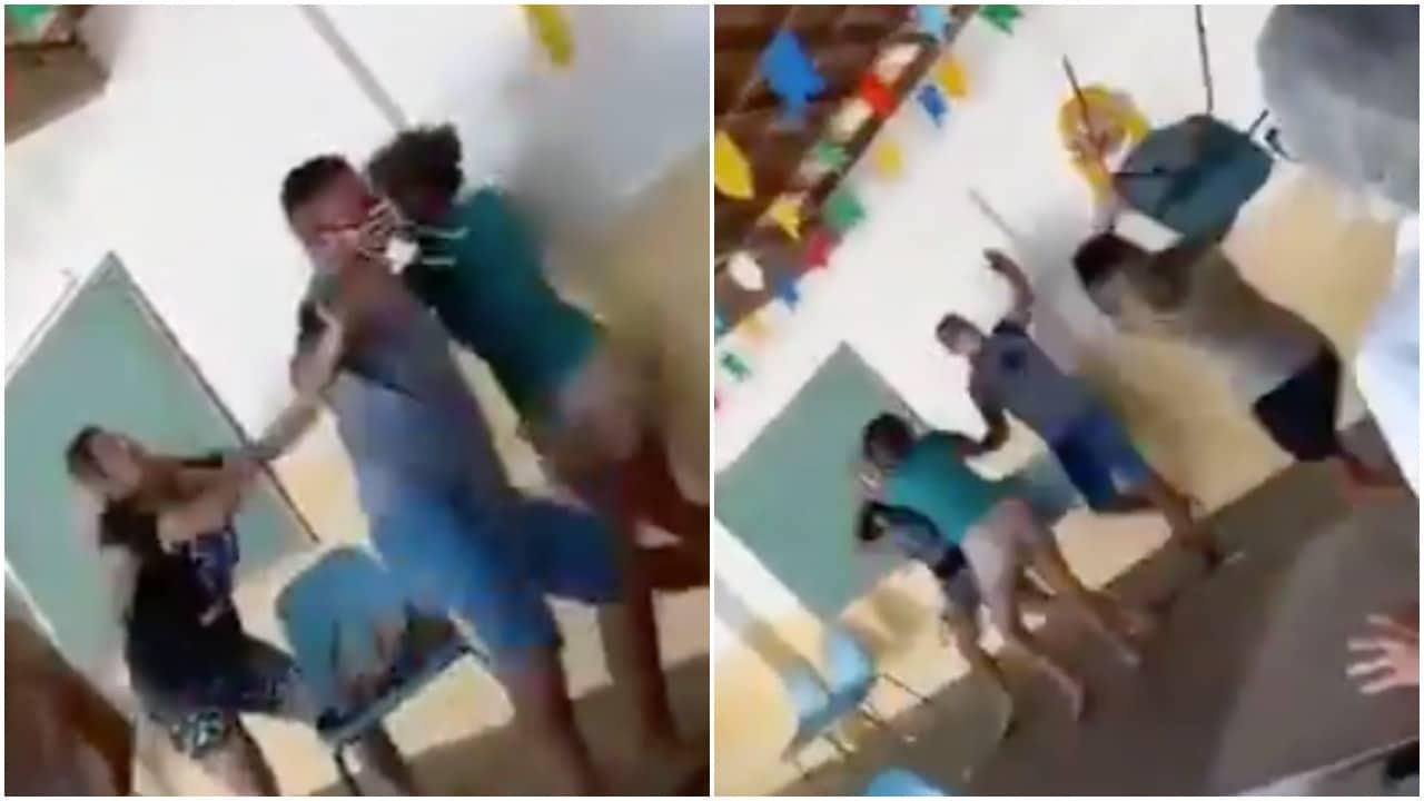 hombre acompaña esposa a recibir vacuna y encuentra esposa en Brasil: video