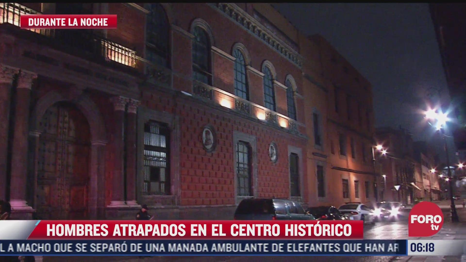 hombres quedan atrapados en edificio historico del siglo xvi en cdmx