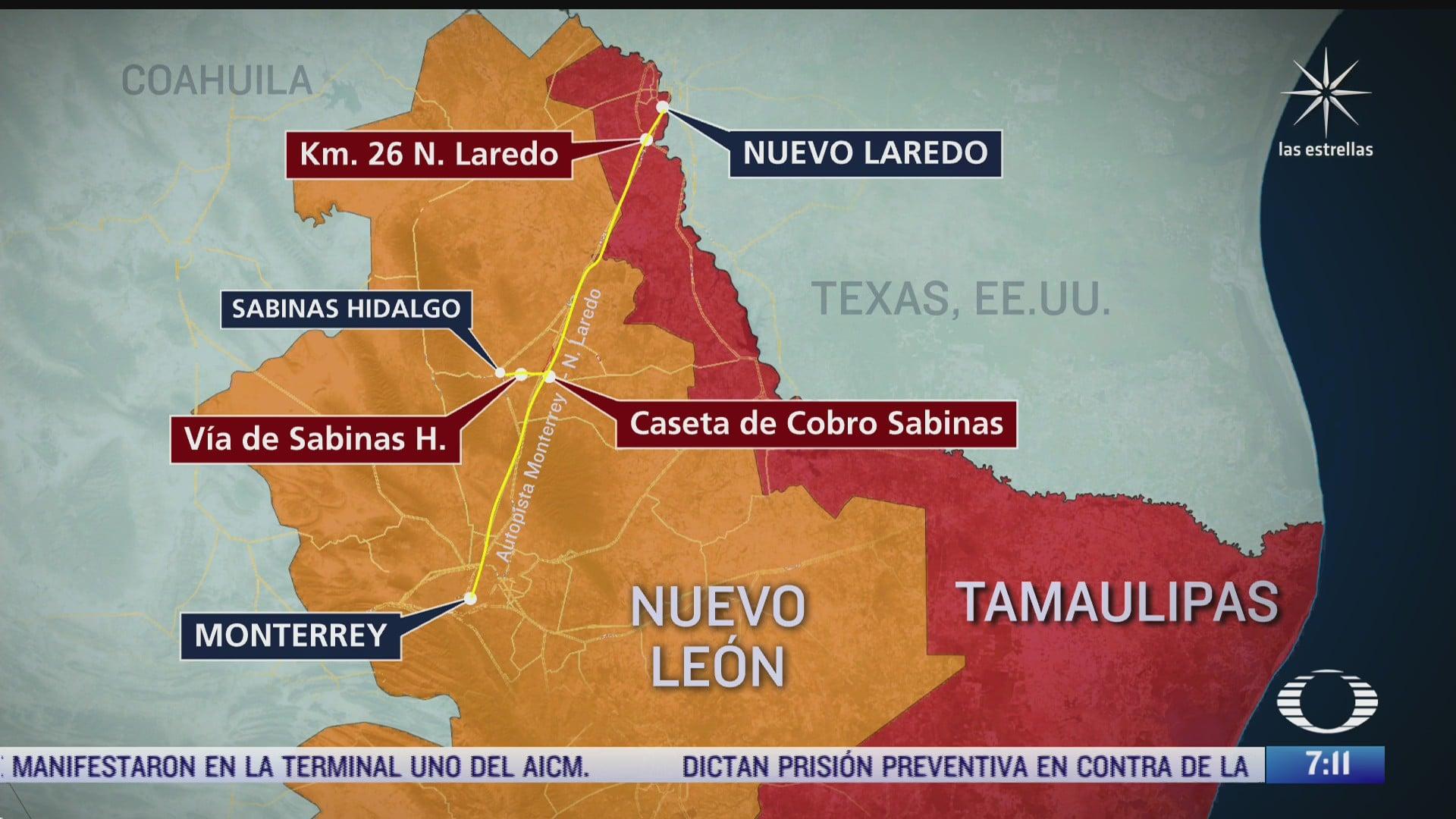identifican tres puntos donde han ocurrido desapariciones en carretera monterrey nuevo laredo