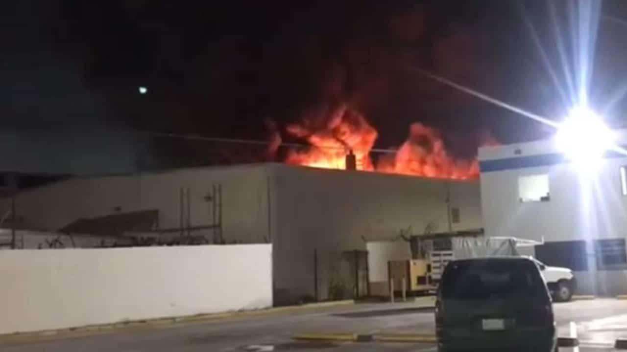 Incendio en Parque industrial de Reynosa, Tamaulipas, moviliza a servicios de emergencia