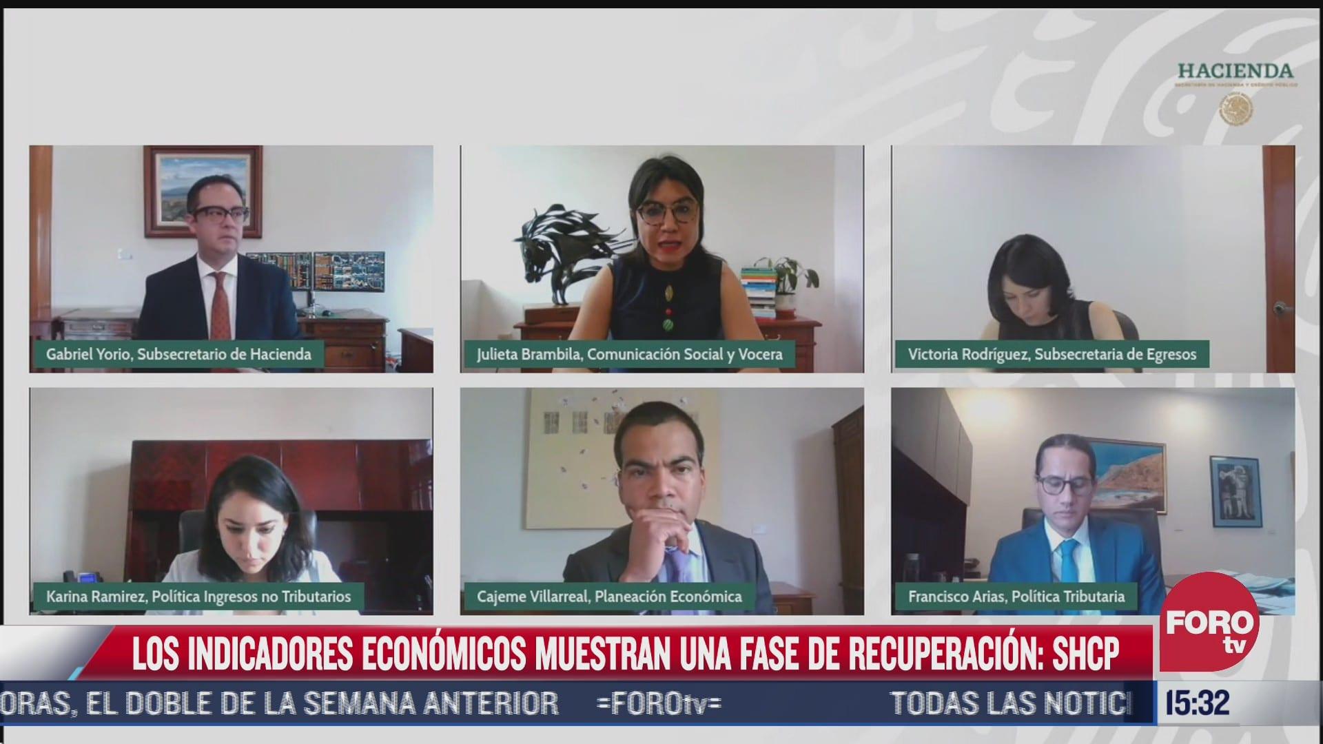 indicadores economicos muestran fase de recuperacion hacienda
