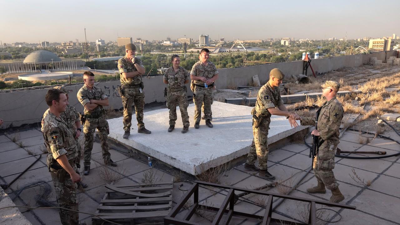 La coalición y las fuerzas iraquíes ocupan la zona internacional de Bagdad (Getty Images)