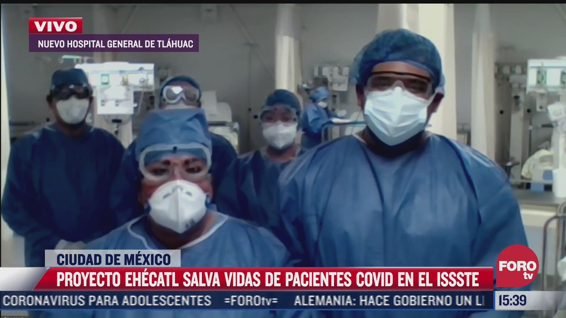 issste lanza proyecto ehecatl para atencion a pacientes covid