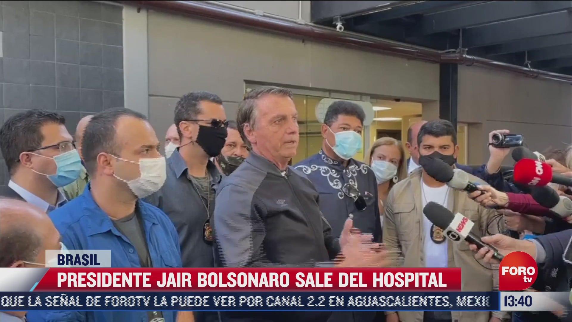 jair bolsonaro sale del hospital tras obstruccion intestinal