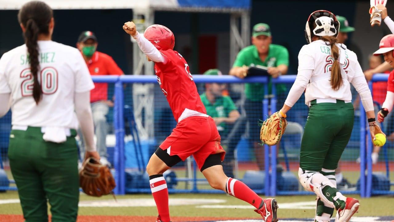 Japón vence a México en torneo de softball femenil de Tokyo 2020