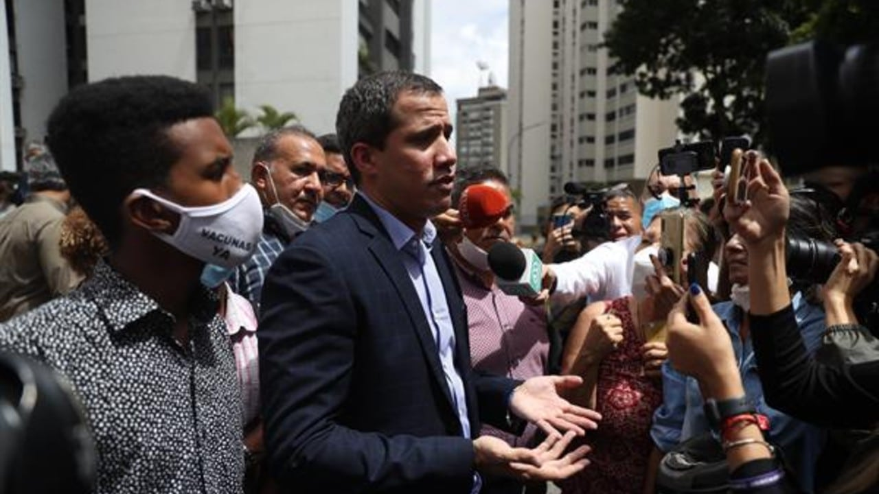 Juan Guaidó ofrece mensaje en Caracas
