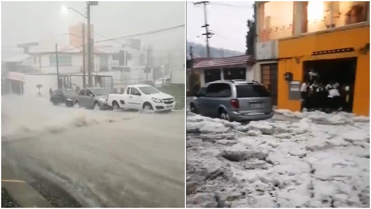 Reportan en redes sociales fuerte caída de lluvia y granizo en CDMX y Estado de México