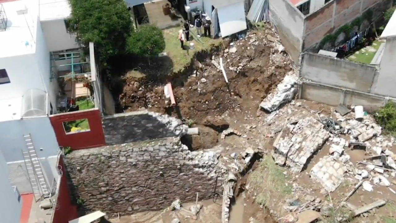Lluvias en Valle de México derrumban casa en Naucalpan; emergencia en Atizapán sigue