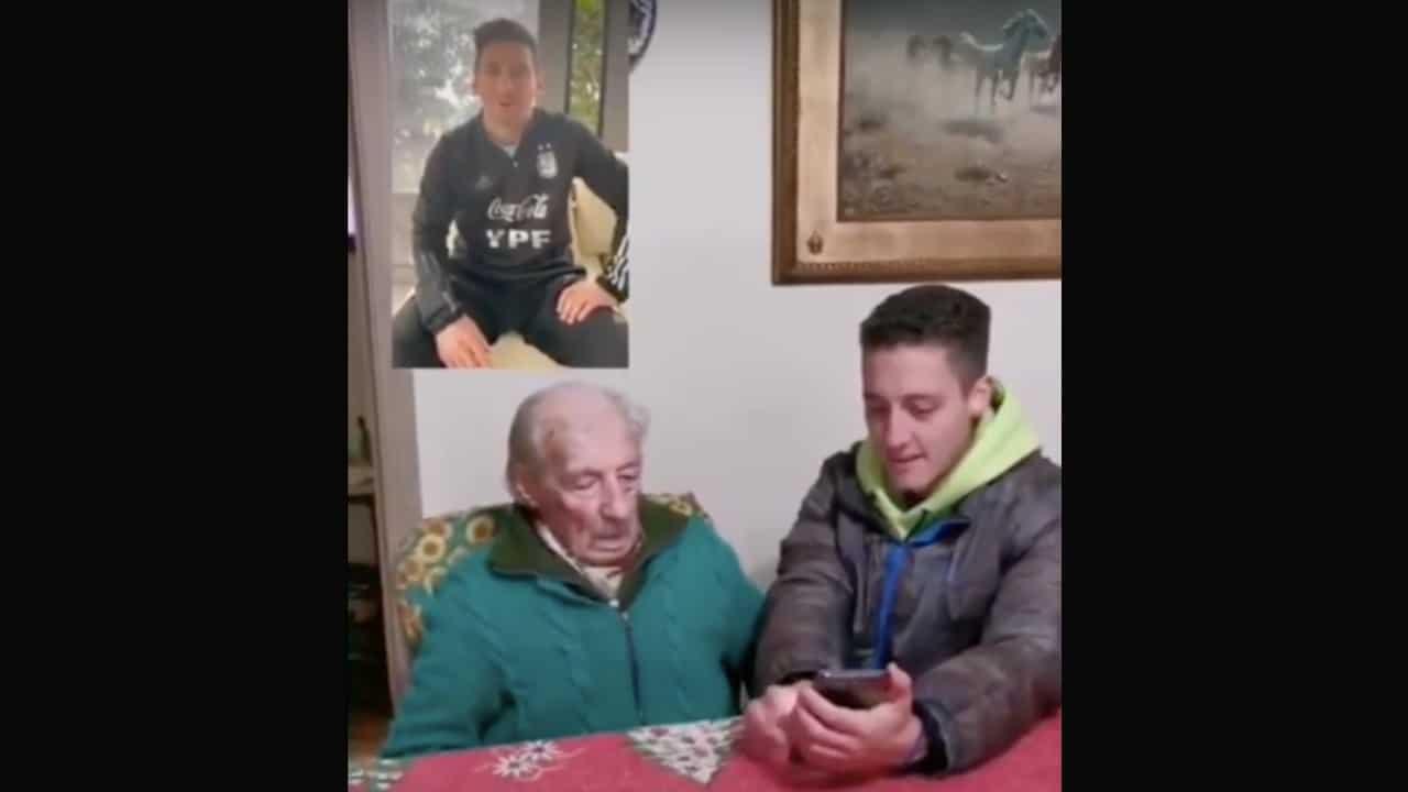 Messi envía mensaje a abuelito de 100 años
