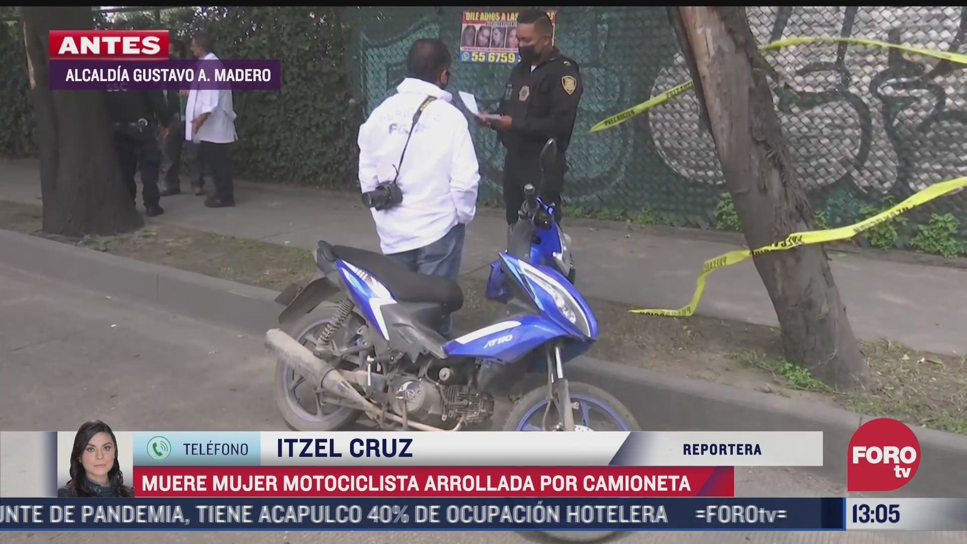muere mujer motociclista atropellada por camioneta en la gam
