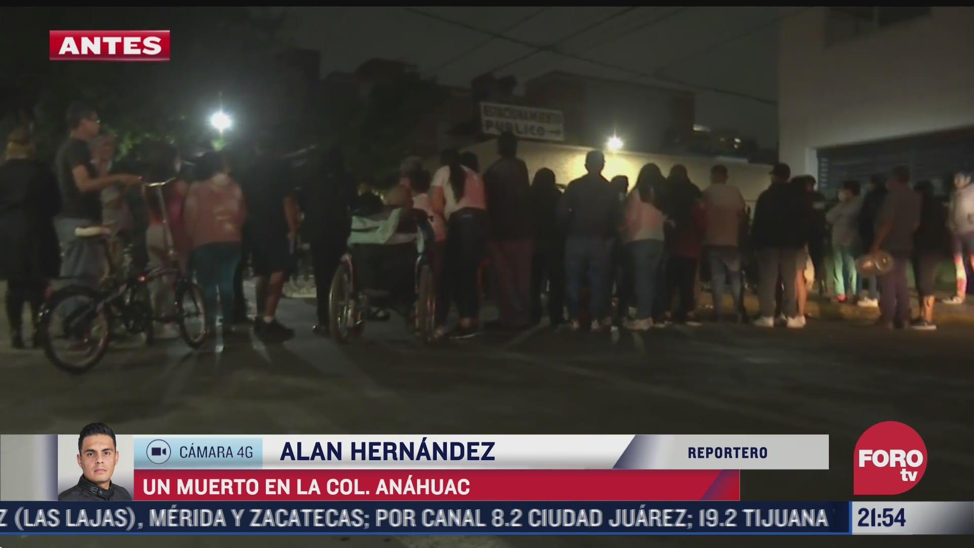 muere una persona tras ataque a balazos en la colonia anahuac