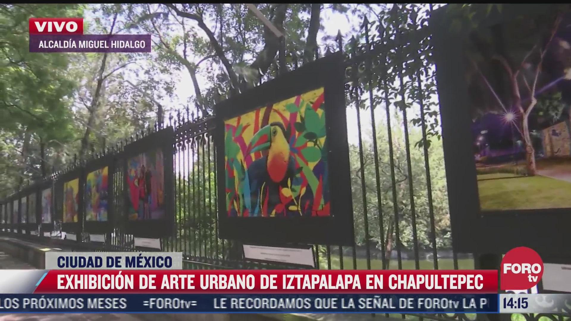 muestra fotografica del arte urbano en iztapalapa se retirara el 11 de julio