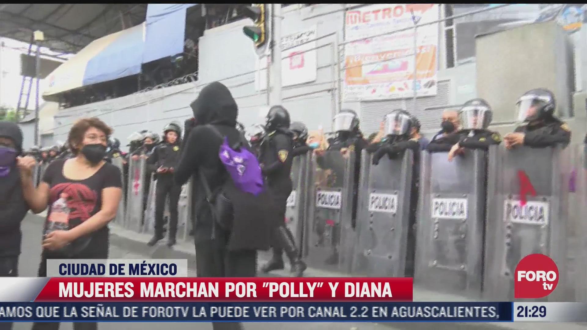 mujeres marchan por polly y diana en cdmx