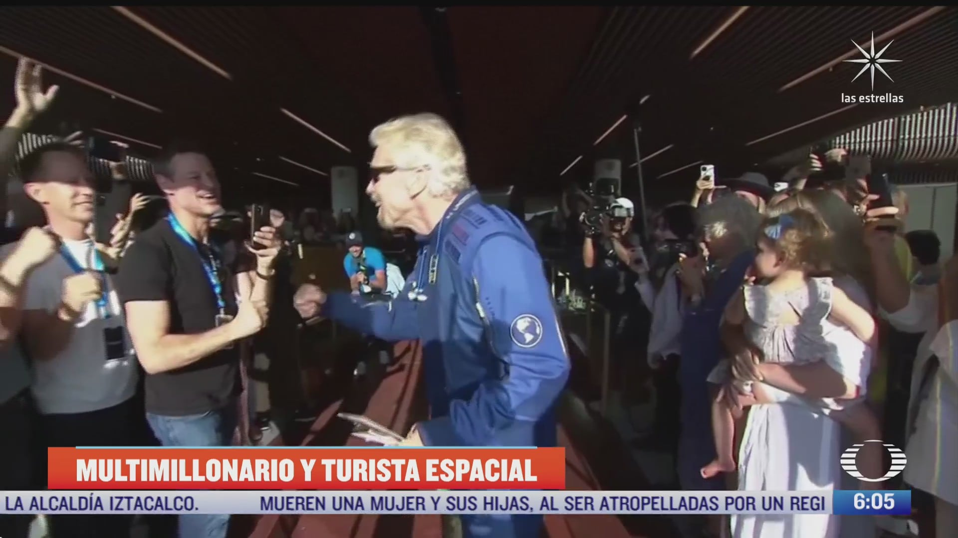 multimillonario richard branson realiza viaje al espacio