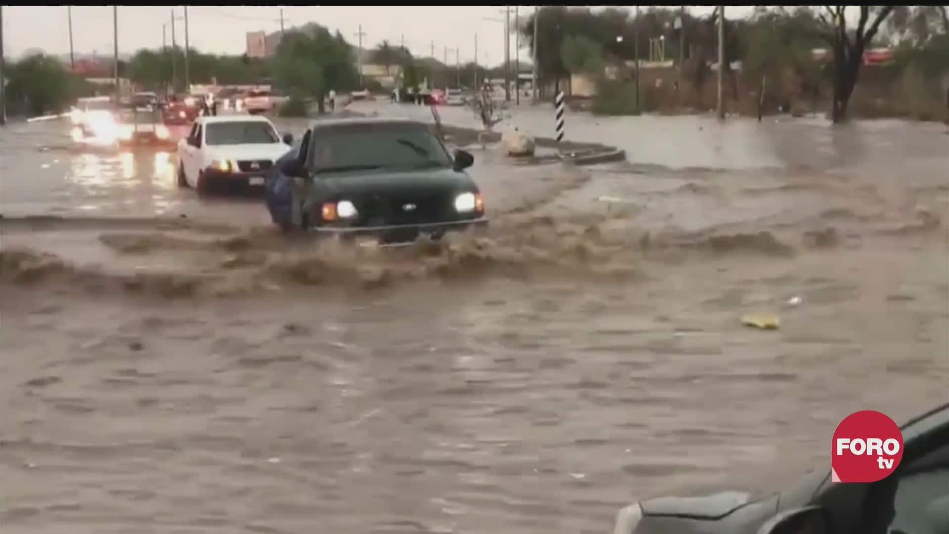 multiples danos dejan lluvias en hermosillo sonora