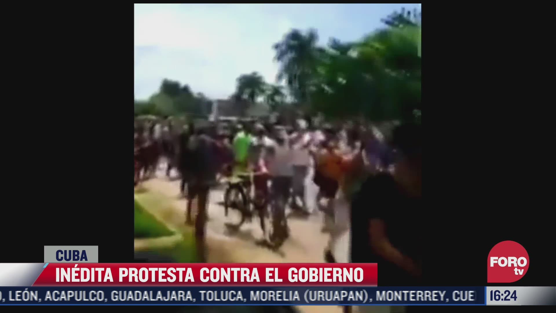 multitudinaria e inedita protesta antigubernamental en cuba