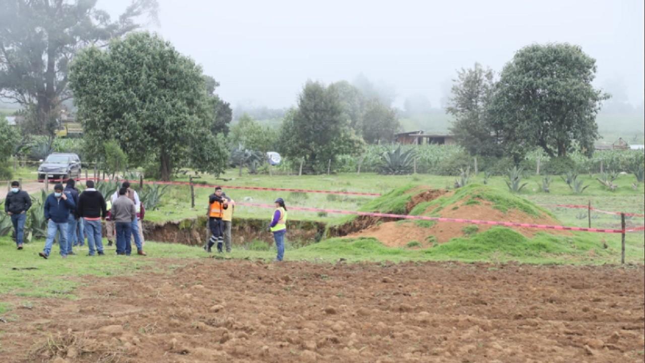 Se forma nuevo socavón de 15 metros de diámetro en Puebla