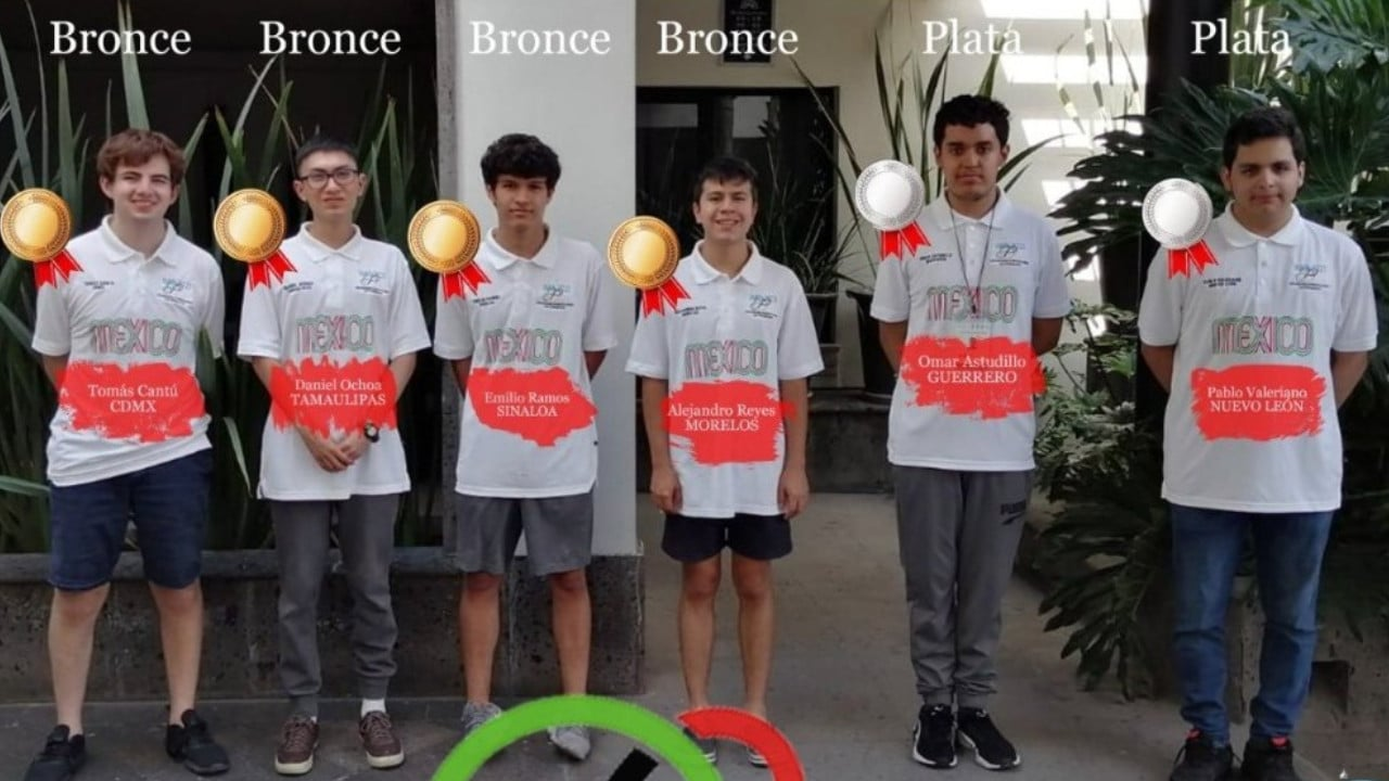 estudiantes mexicanos, olimpiada matemática, medallas, educación