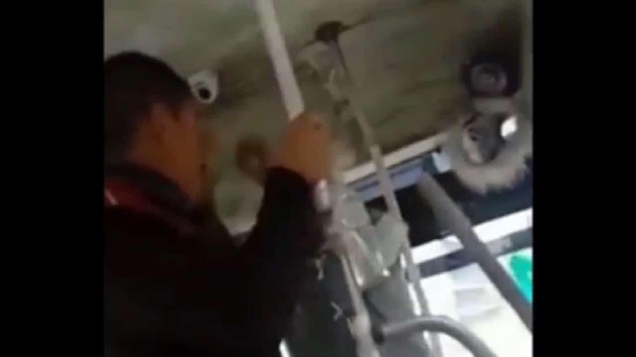 Conductor y pasajero pelean en unidad de transporte público