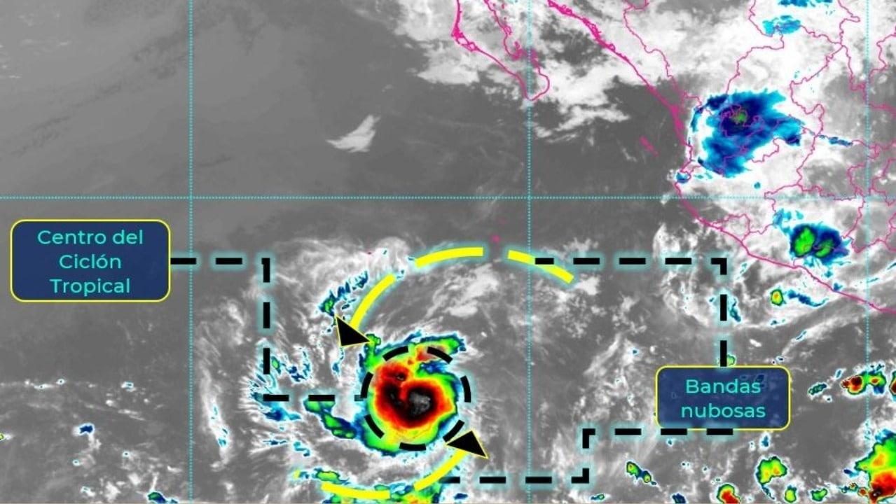 Se forma depresión tropical 'Seis-E' en el Pacífico mexicano