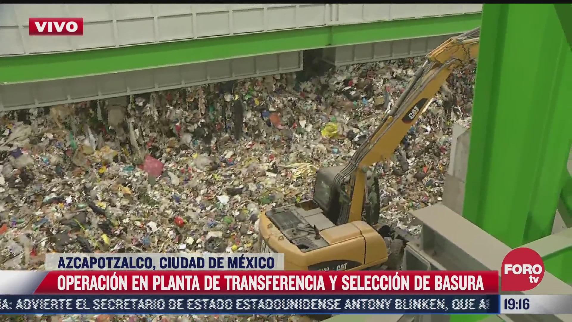 planta de transferencia y seleccion de basura de la cdmx