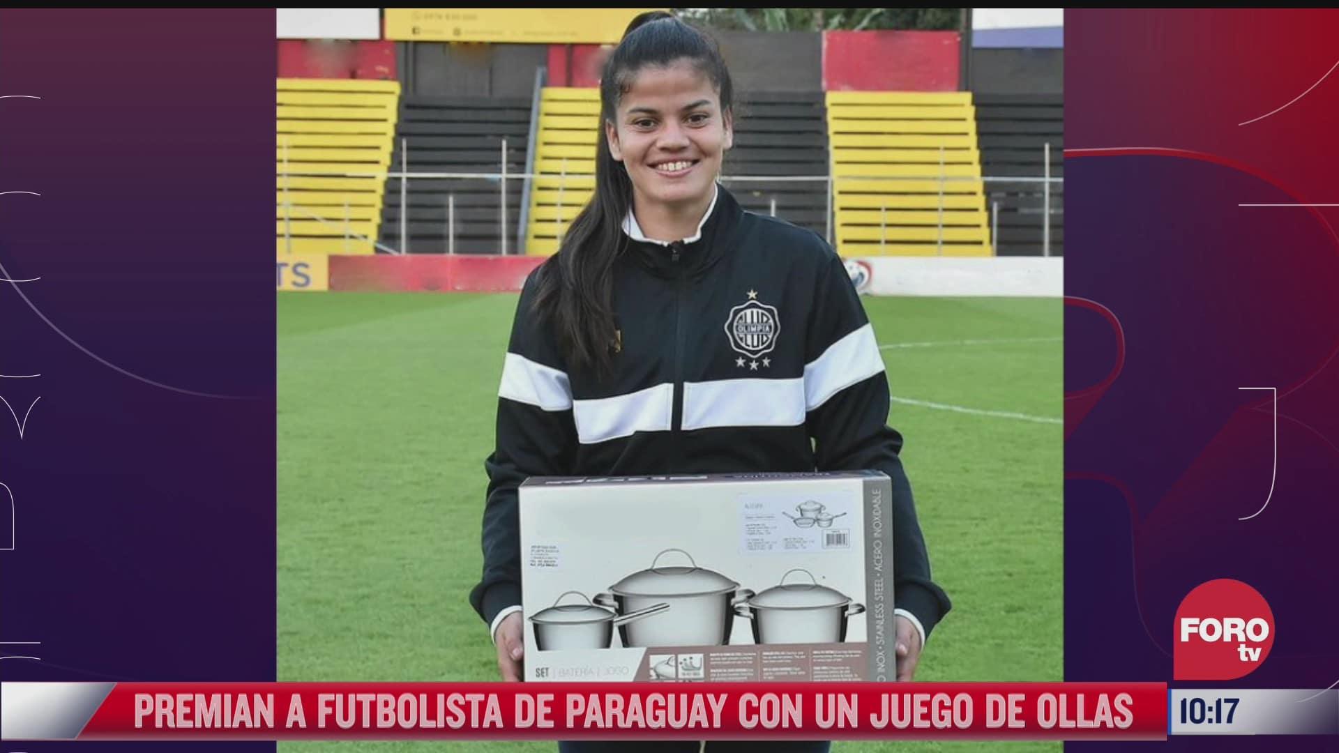 polemica por juego de ollas como premio para mujer futbolista