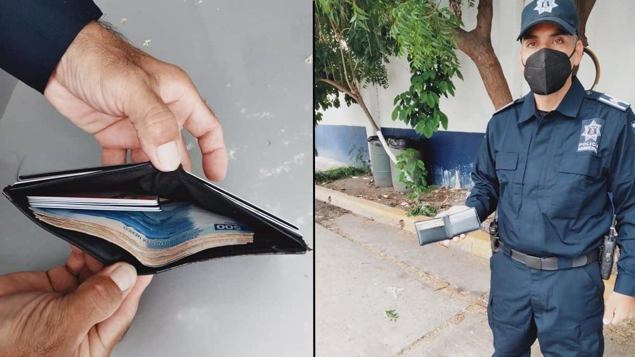 Policía de Culiacán devuelve 5 mil pesos