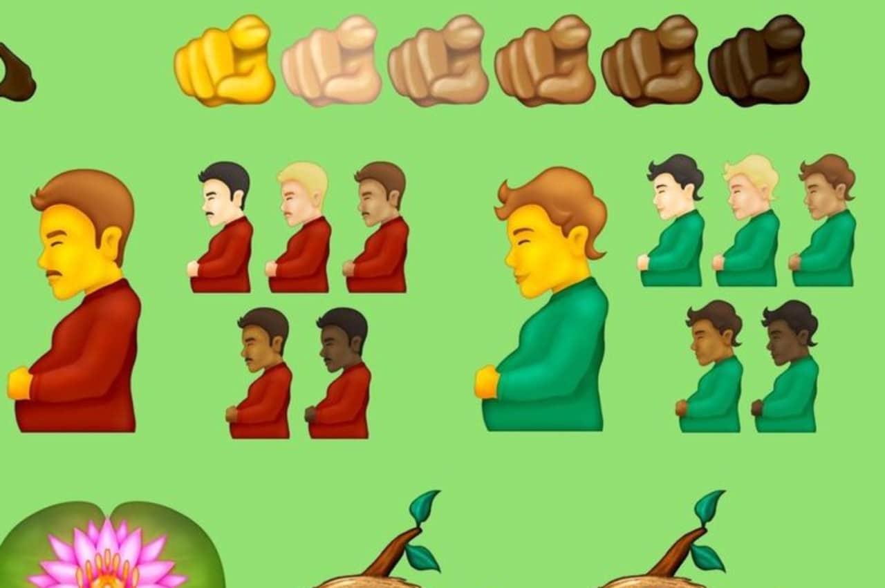 WhatsApp: hombre embarazado entre los nuevos emojis