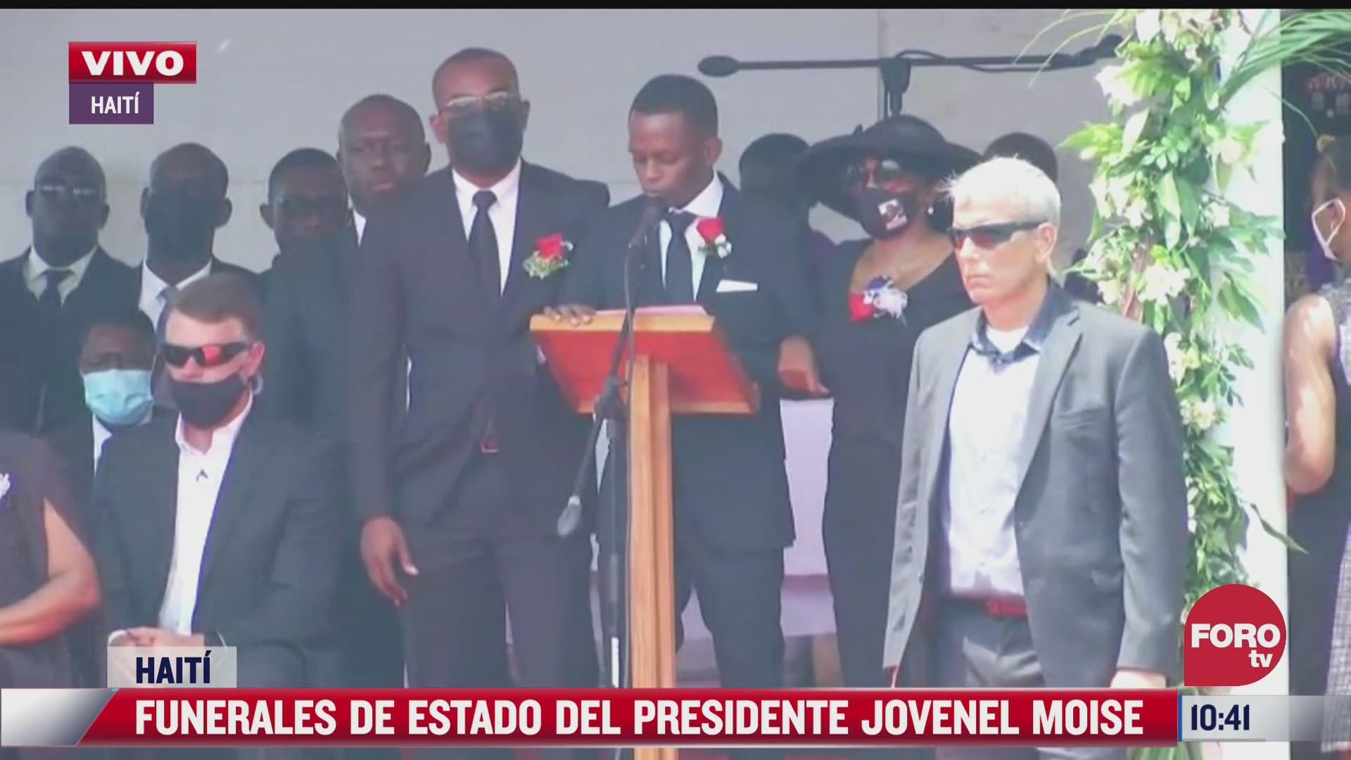 realizan funeral de estado para presidente de haiti