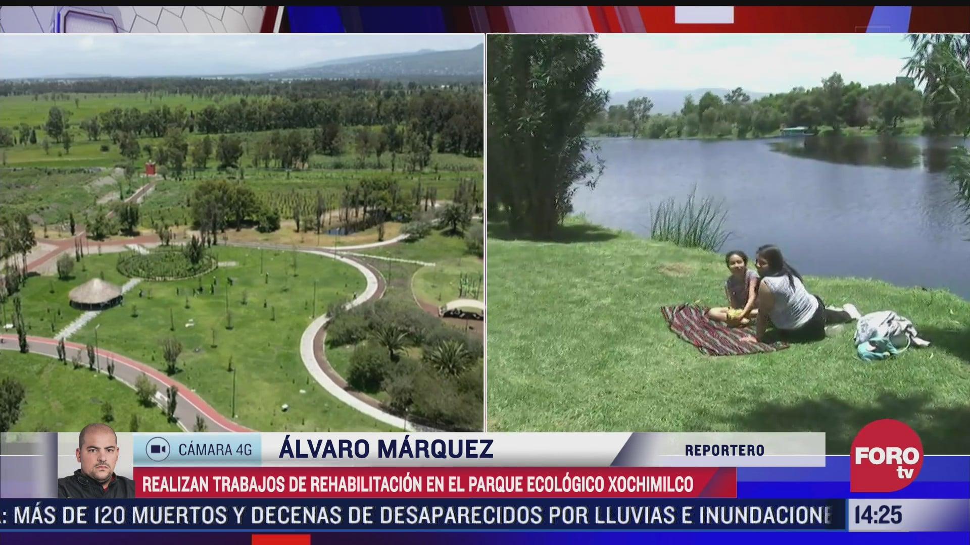 realizan trabajos de rehabilitacion en el parque ecologico xochimilco