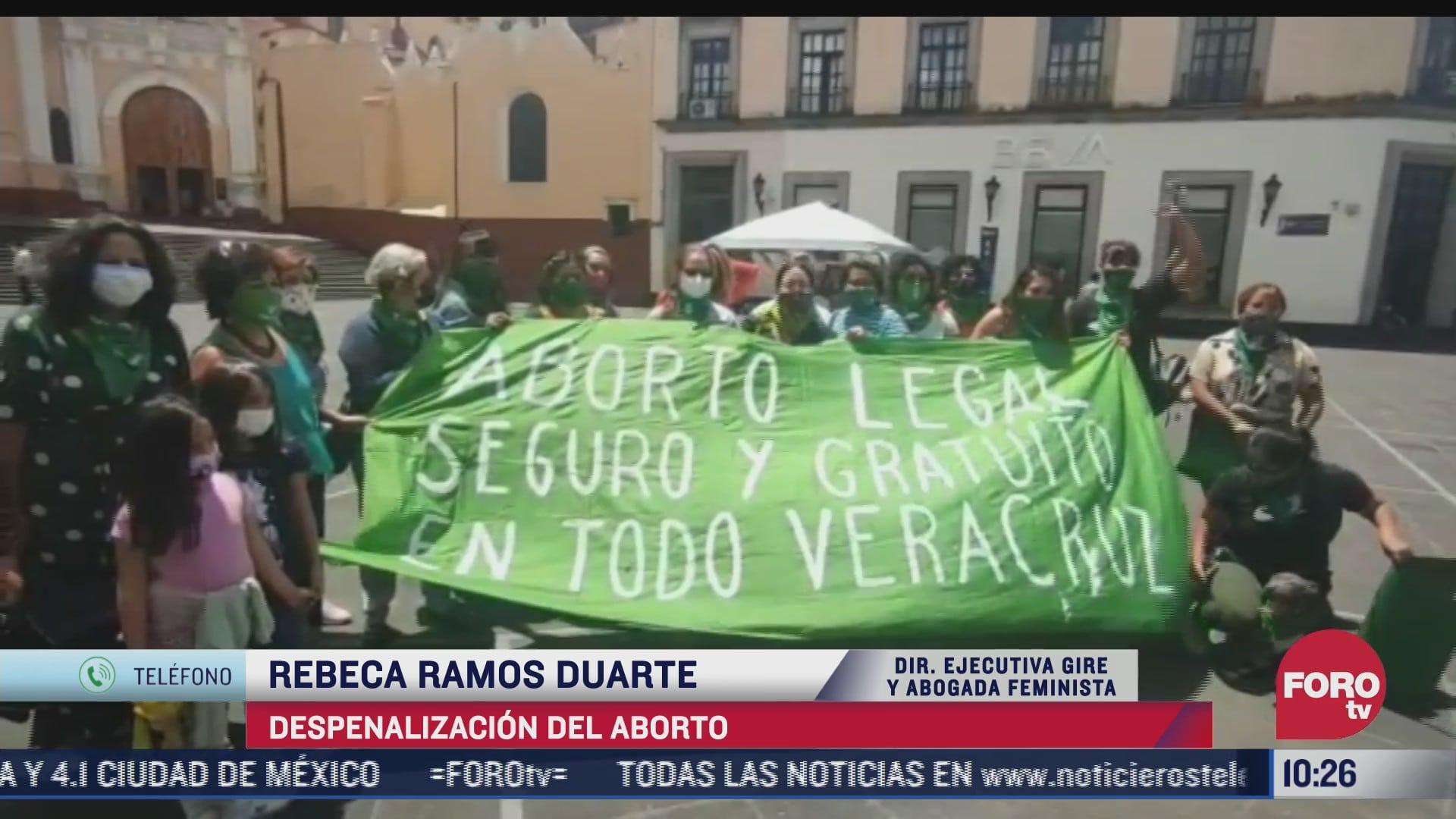 rebeca ramos habla sobre la despenalizacion del aborto en veracruz
