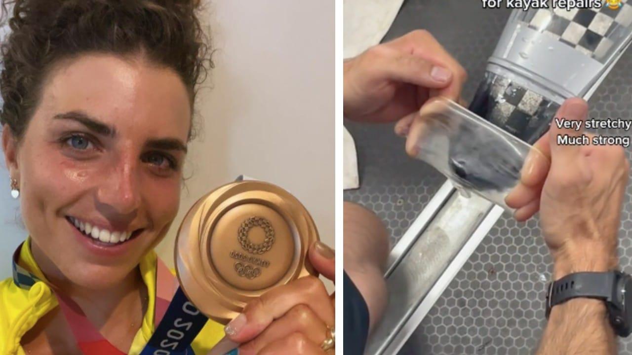Atleta australiana repara kayak con condón y gana medalla de bronce