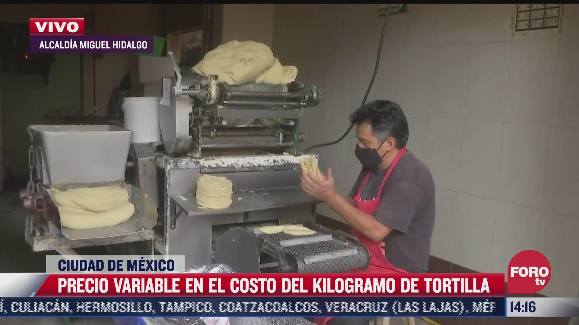 reportan incremento del costo de la tortilla en cdmx
