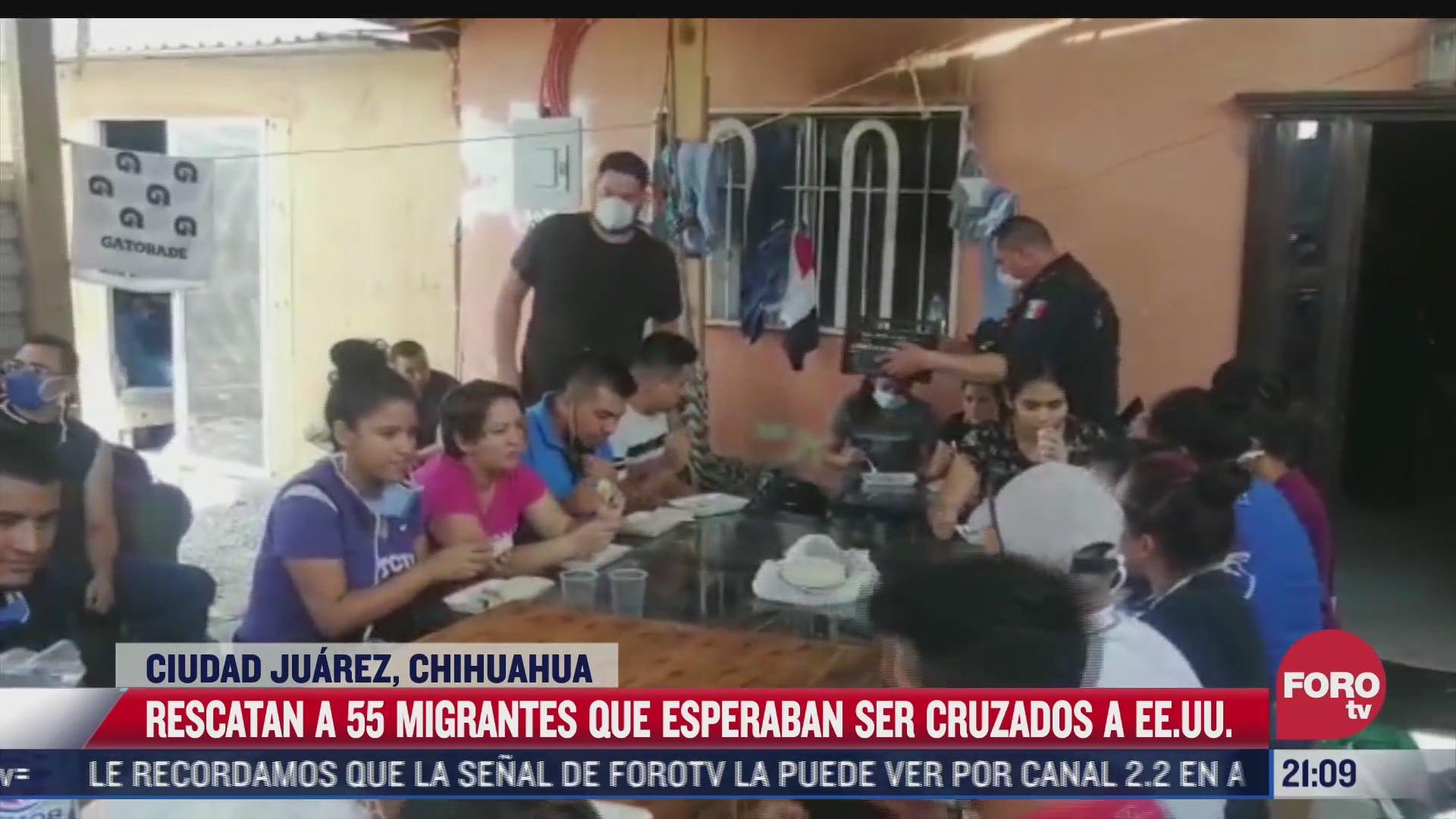rescatan a 55 migrantes que esperaban ser cruzados a eeuu