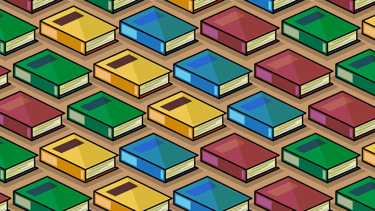 Encuentra los libros que son más gruesos, ilustración