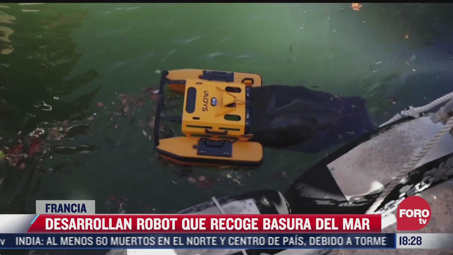robot medusa recolecta basura en lugares poco accesibles del mar