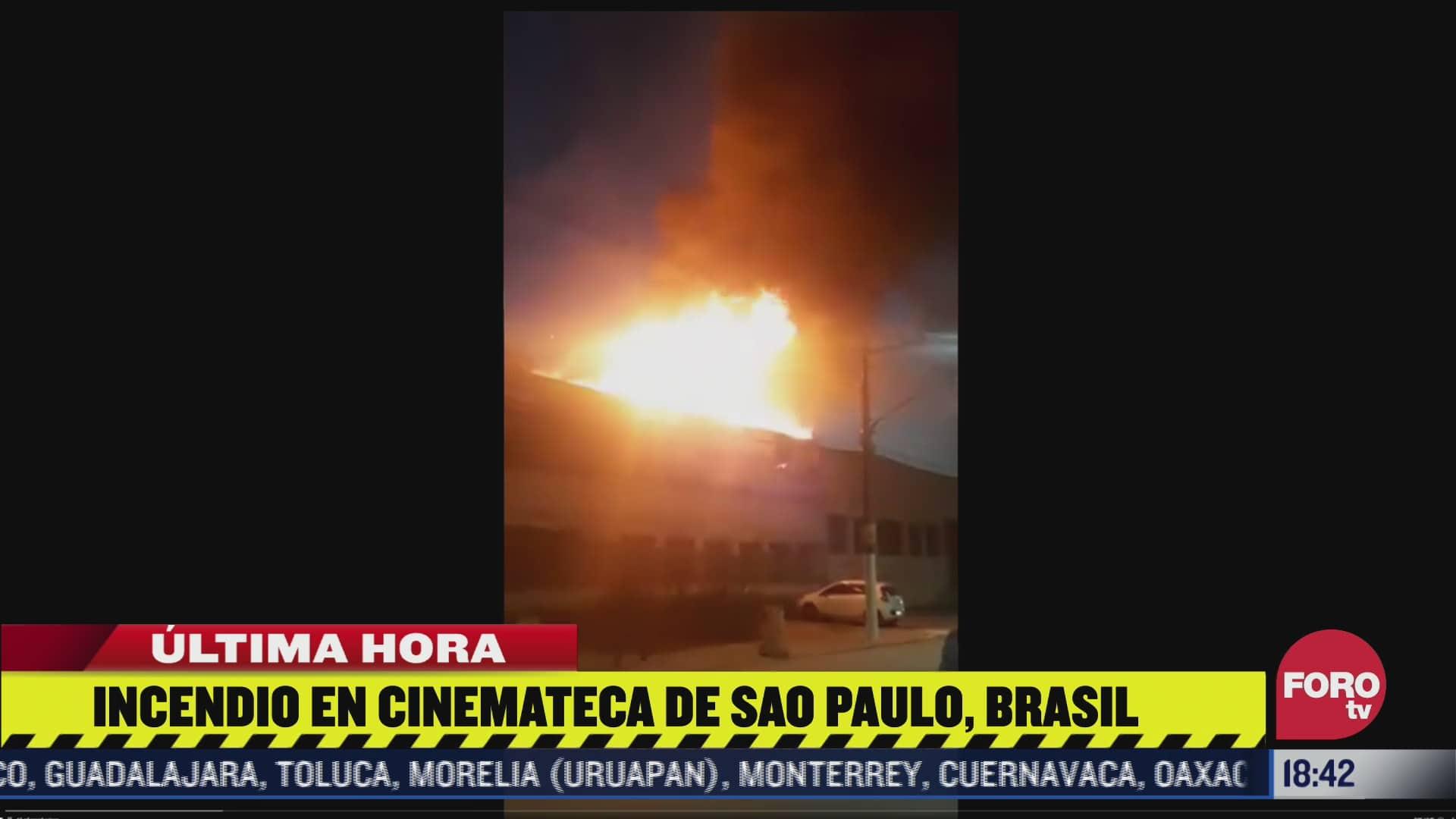 se registra incendio en la cinemateca de sao paulo brasil